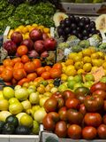 Organic fresh vegetables and fruit. Fresh fruit and vegetables, source of health Royalty Free Stock Photo