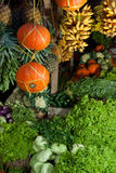Fresh fruit and vegetables traditional market Royalty Free Stock Photography