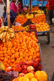 Fresh fruit in wagon Royalty Free Stock Images