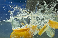 Fresh fruit in water Stock Photography