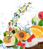 Fresh fruit in water splash Stock Photography
