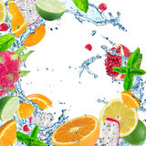 Fresh fruit in water splash Stock Photo