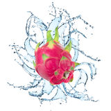 Fresh fruit with water splash. On the white background Royalty Free Stock Photography