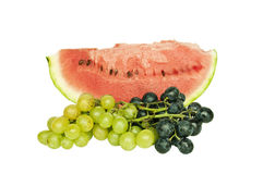 Fresh fruit - watermelon with grapes Royalty Free Stock Photography
