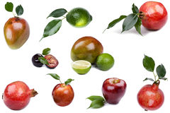 Fresh fruit on white Stock Image