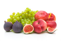 Fresh fruit on a white background Stock Photography