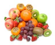 Fresh fruit on a white background Royalty Free Stock Photography