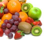 Fresh fruit on a white background close-up Royalty Free Stock Photo