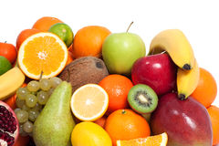 Fresh fruit in a white background Royalty Free Stock Photo