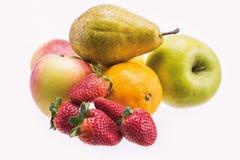 Fresh Fruit on a white background Stock Photography