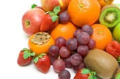 Fresh fruit on a white background Royalty Free Stock Photo