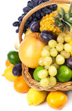 Fresh fruit in a wicker basket Royalty Free Stock Photo