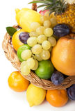 Fresh fruit in a wicker basket Stock Photography