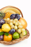 Fresh fruit in a wicker basket Royalty Free Stock Photography