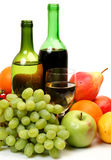 Fresh fruit and wine Royalty Free Stock Photos
