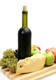 Fresh fruit and wine stock image