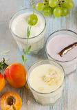 Fresh fruit yogurt Royalty Free Stock Images