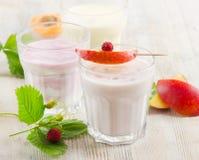 Fresh fruit yogurt Stock Photo