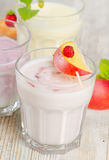 Fresh fruit yogurt Stock Photo