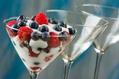 Fresh Fruit Yogurt Royalty Free Stock Photo