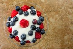 Fresh Fruit Yogurt Royalty Free Stock Photos