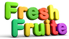 Fresh Fruite 3D. Fresh fruits 3d text abstract concept Stock Images