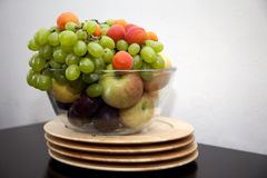 Fresh fruits. Fresh fruit on a table royalty free stock photography