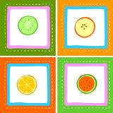 Fresh fruits. Illustration with fresh fruits Royalty Free Stock Photo