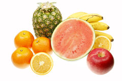 Fresh fruits. Some fresh fruits isolated on white Stock Photography