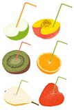 Fresh fruits. Organic fruits concept was created with typographic design Royalty Free Stock Photo