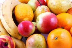 Fresh fruits. Colorful fresh group of fruits Stock Image