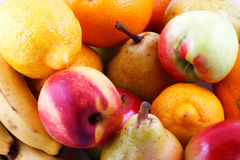 Fresh fruits. Colorful fresh group of fruits Royalty Free Stock Photo