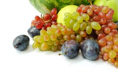Fresh fruits. Colorful fresh group of fruits for healsy life. Closeup Royalty Free Stock Image