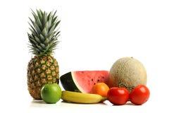 Fresh fruits. Isolated over white background royalty free stock photos