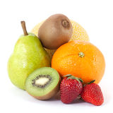 Fresh fruits. Isolated on white background stock photo