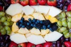 Fresh Fruits. Fresh fruit arranged on a platter Stock Photos