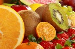 Fresh fruits. Close up of many kind delicious fresh fruits Stock Photo