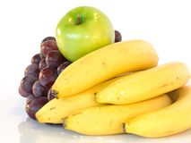 Fresh fruits. Composition of fresh fruits-  three colors Stock Photography