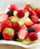 Fresh fruits. As dessert with low calorie royalty free stock image