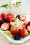 Fresh fruits. As dessert with low calorie stock images
