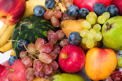 Fresh fruits. Lots of fresh and ripe fruits royalty free stock image