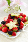 Fresh fruits. As dessert with low calorie royalty free stock photography