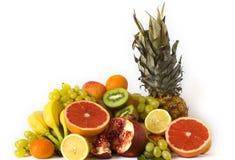 Fresh fruits. On white background royalty free stock photos