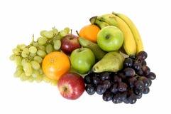 Fresh fruits. Fresh healthy colorful bio fruit full of vitamins, white background Royalty Free Stock Photos
