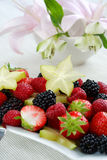 Fresh fruits. As dessert with low calorie royalty free stock photos