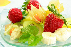 Fresh fruits. As dessert with low calorie stock photo