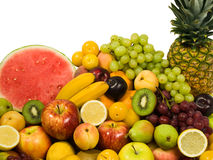 Fresh Fruits. Healthy Eating series: Fruits assortment isolated on pure white Stock Photo