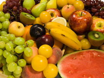 Fresh Fruits. Healthy Eating series: Fruits assortment Stock Photo