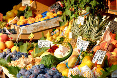 Fresh fruits. In a little shop Stock Image