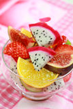 Fresh fruits. Delicious fresh fruits in bowl as dessert stock photography